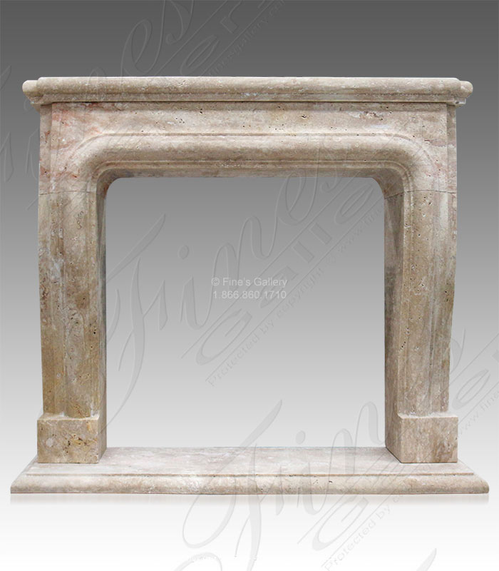 Rustic Travertine Mantel