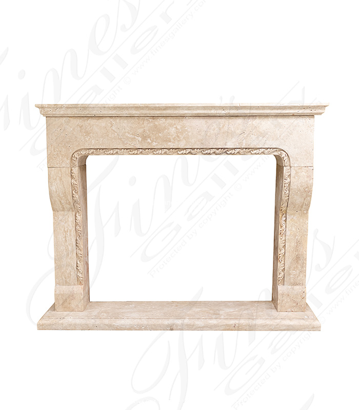 Indoor Outdoor Travertine Mantel