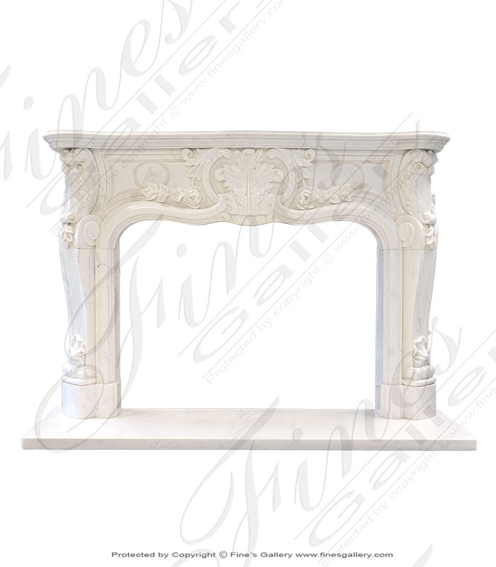 French Marble Fireplace Mantel