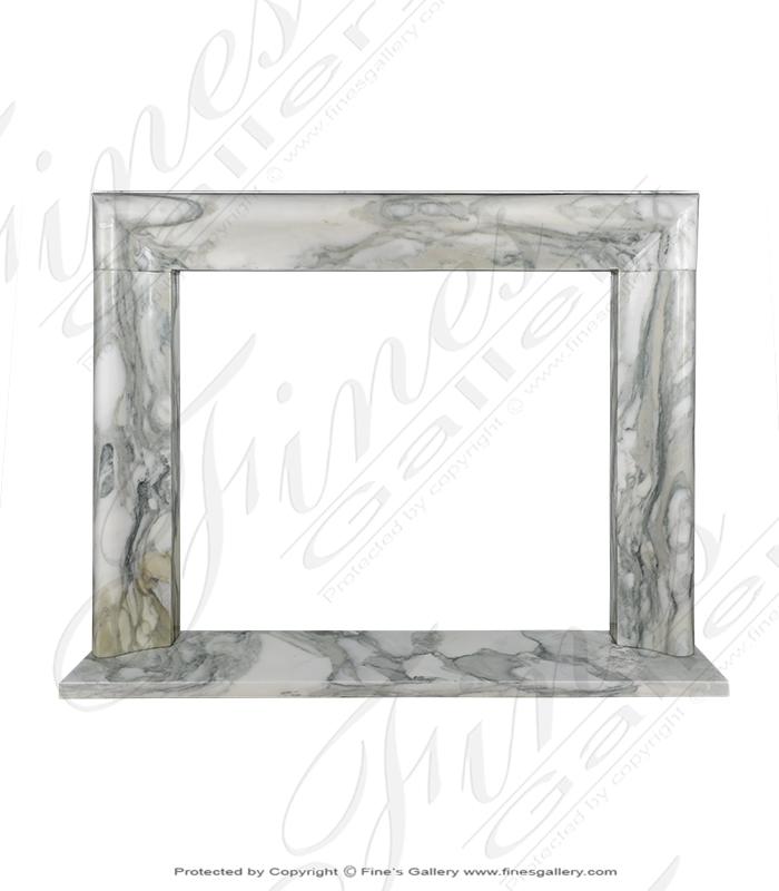 Marble Fireplaces  - Bolection Style Arabascato Mantel - MFP-1895
