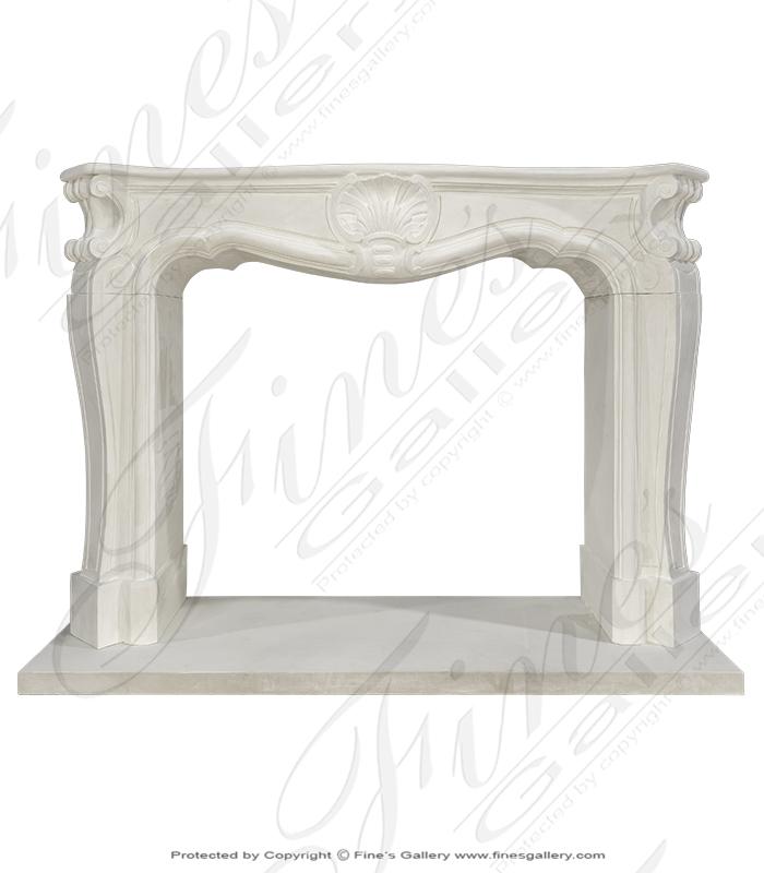French Themed Limestone Mantel