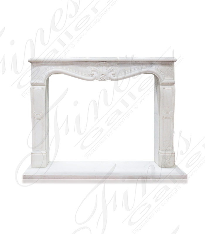 Antique Style White Marble Surround