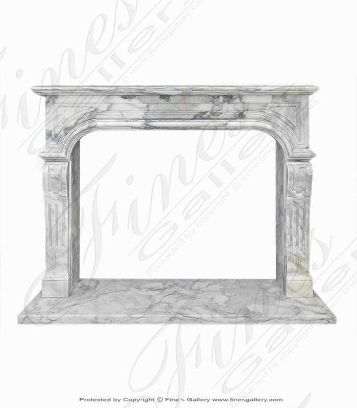 Arabascato Marble Fireplace