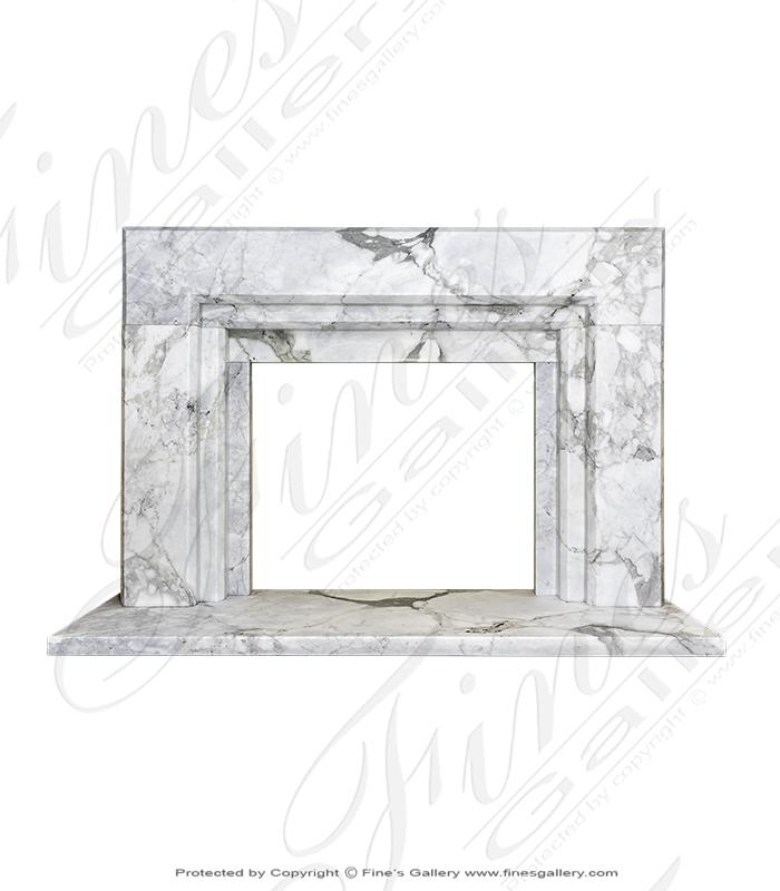 Modern Italian Calacatta Marble Surround