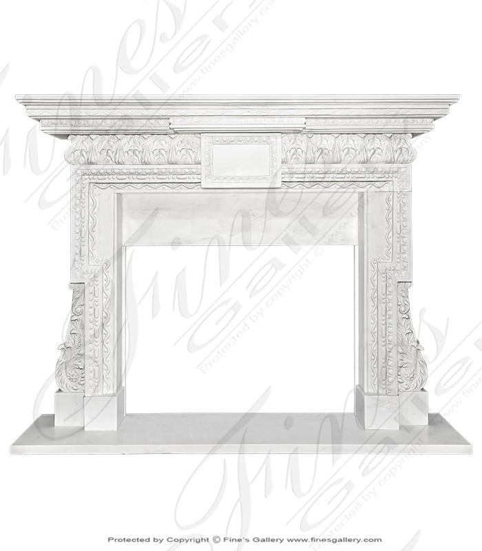 Classic Neoclassical Statuary Mantel