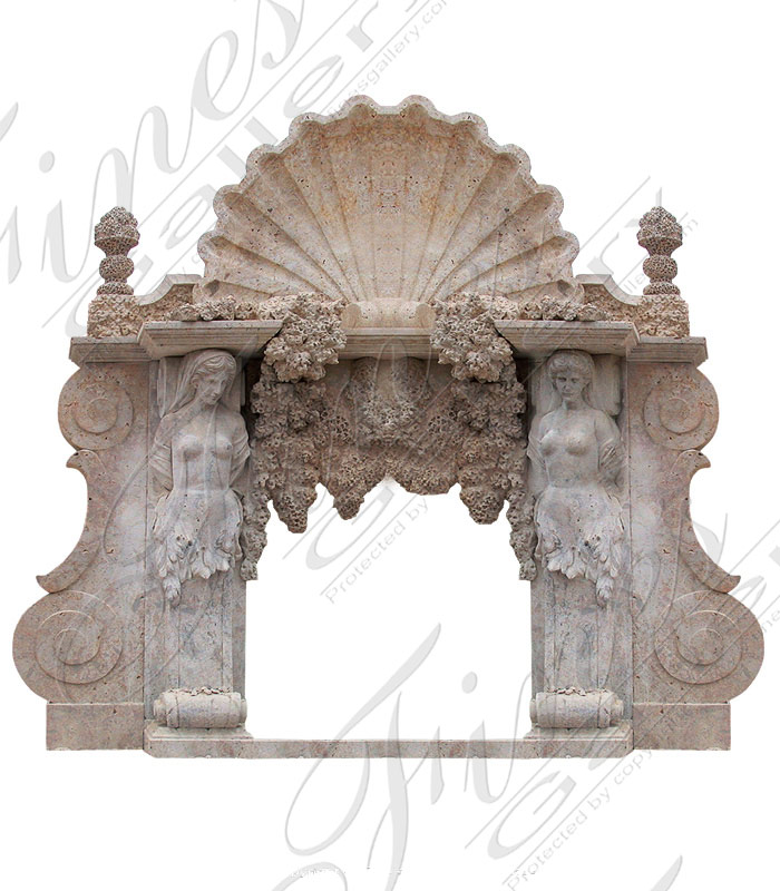 Calcium Marble Fireplace Mantel