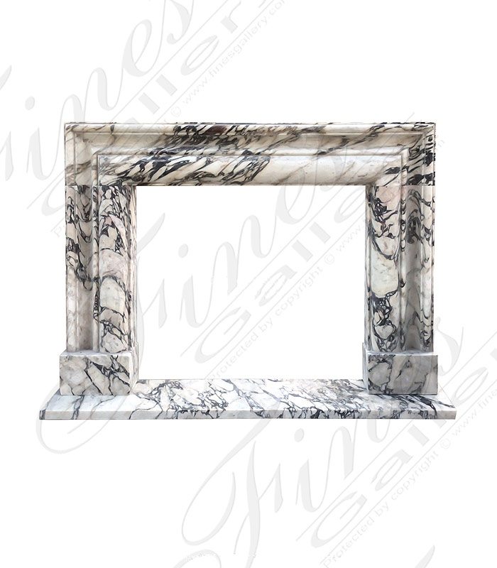 Breccia Viola Marble Bolection Surround XIV