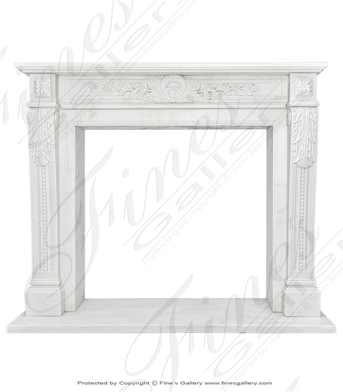 Light Statuary White Marble Fireplace Mantel