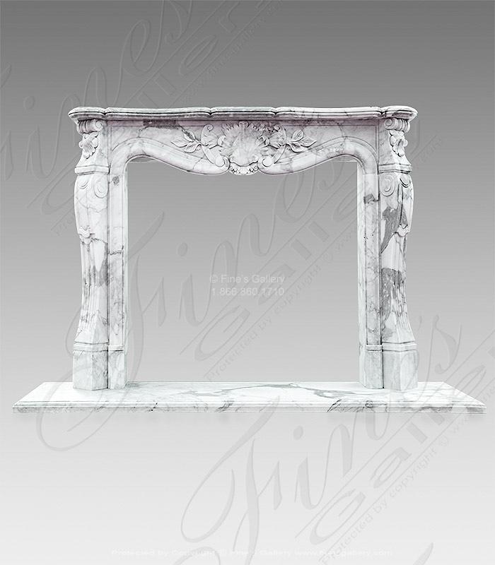 Italian Calacatta French Marble Fireplace Surround