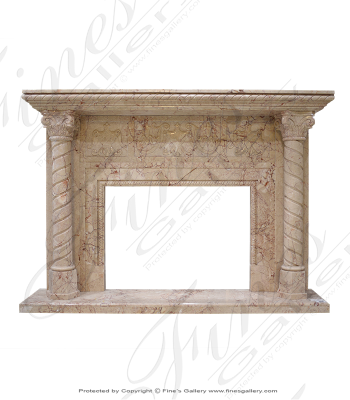 Versailles Luxury Marble Fireplace