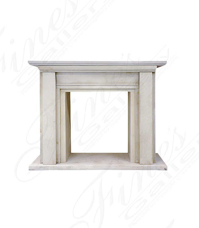 Classic Contemporary Limestone Mantel