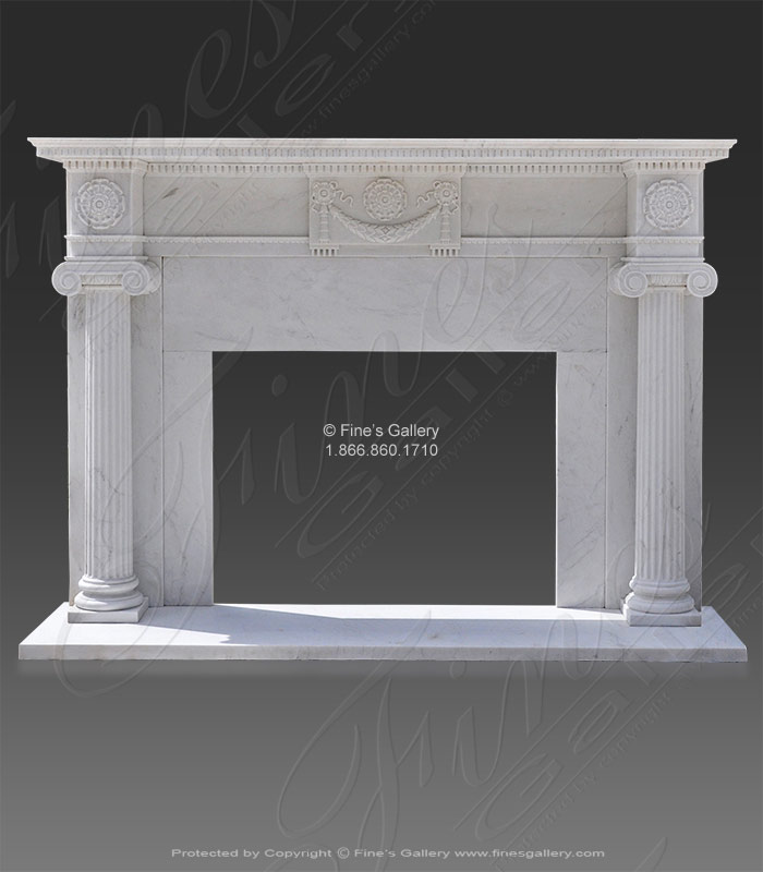 Whitehouse replica marble fireplace