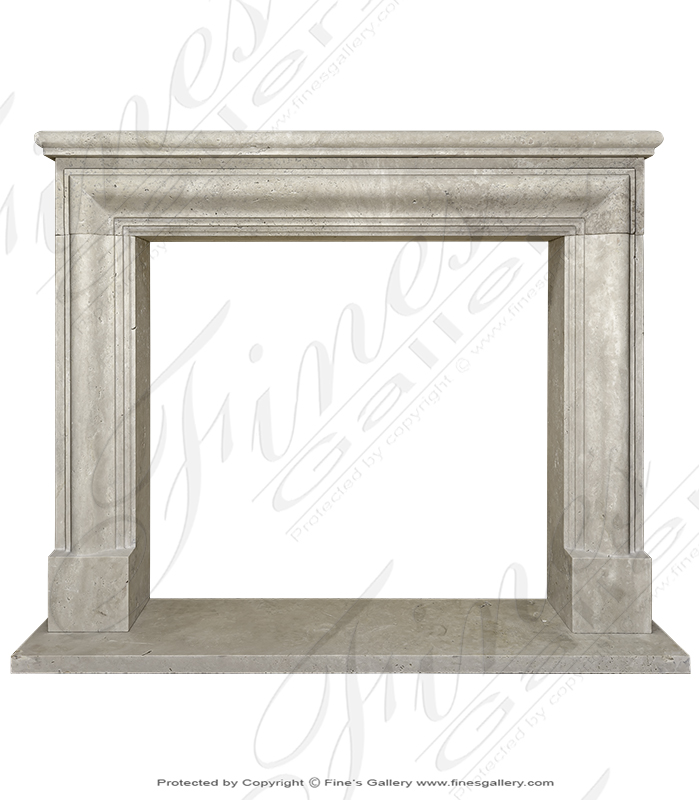 Marble Fireplaces  - Bolection Style Limestone Mantel - MFP-2033