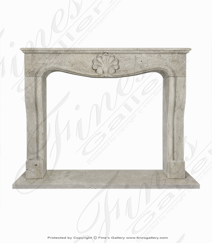 Rustic French Travertine Mantel