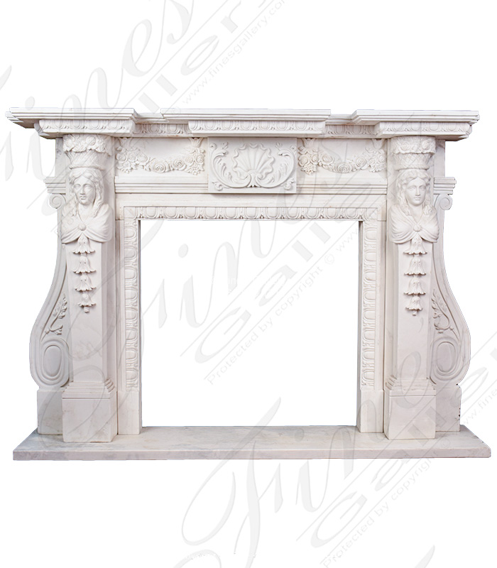 Elegant Ornate Marble Fireplace