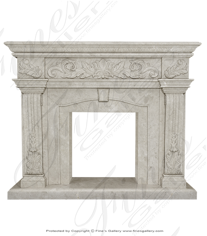 Highly Polished Cream Marble Surround