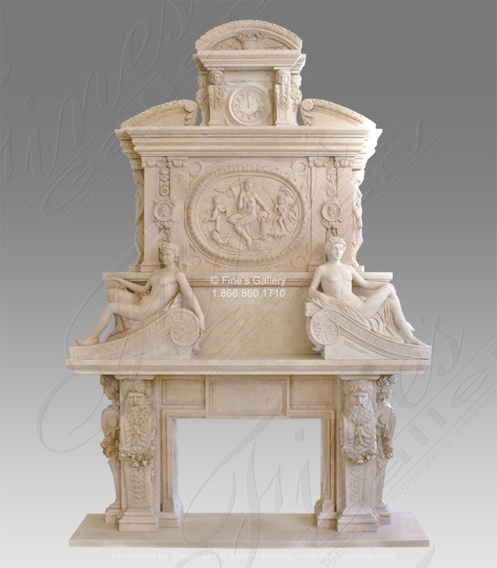 Luxurious Antique Style Overmantel