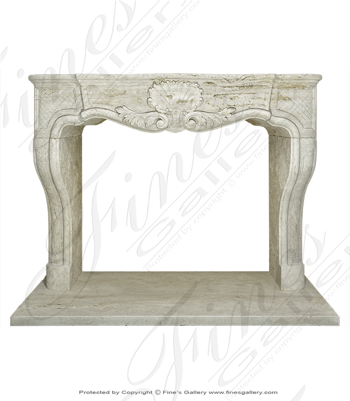 Antique Style Mantel in Roman Travertine