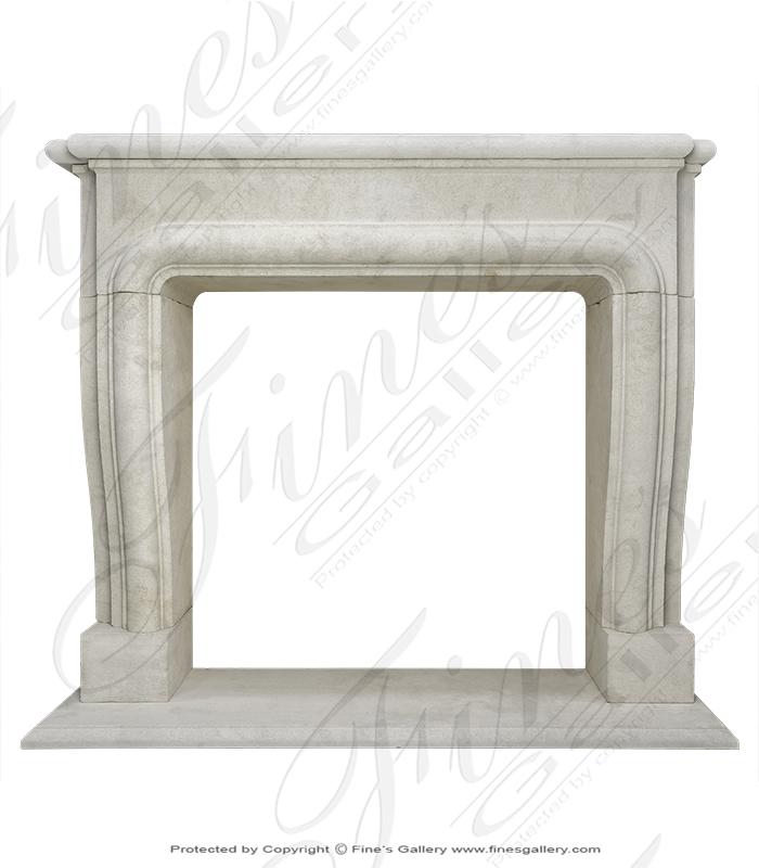 French Limestone Fireplace Mantel