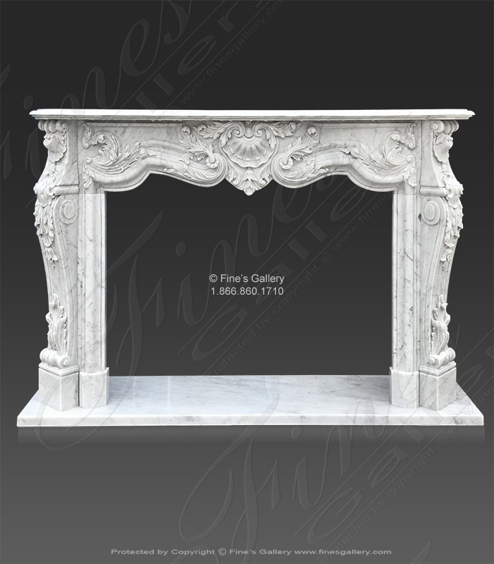 Exotic Carrara Marble Fireplace Mantel