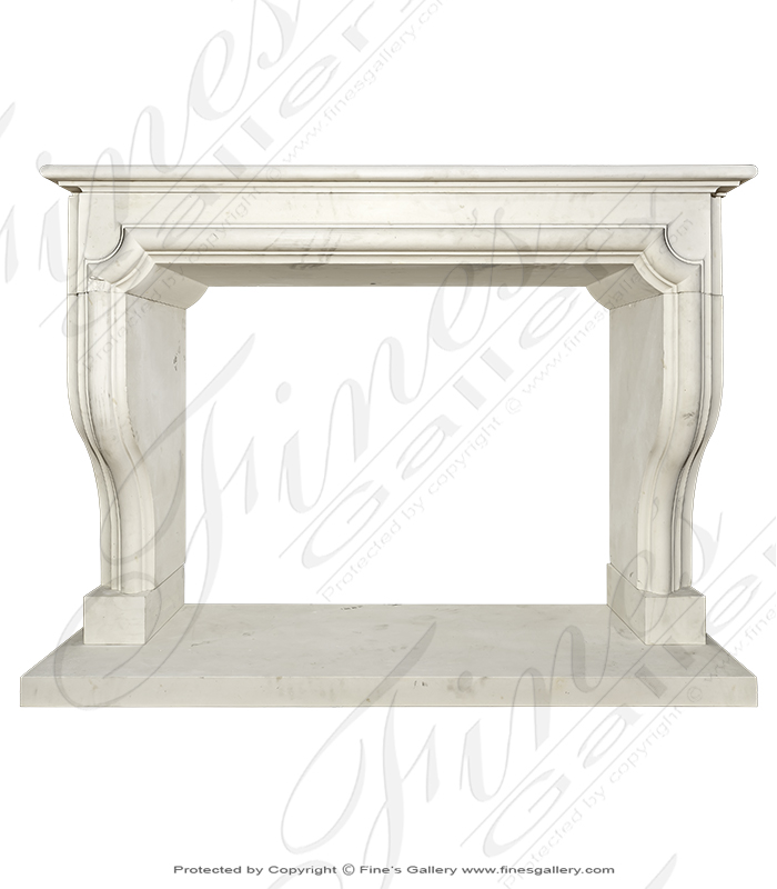 Carved Limestone Mantel From Italy