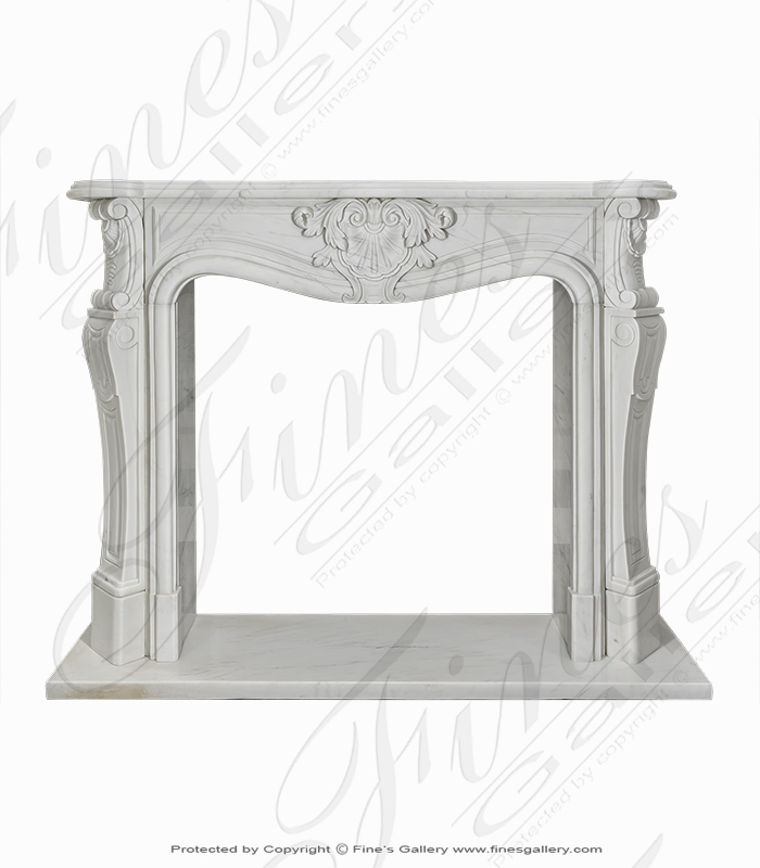Clean Style Statuary White Marble Louise XIV Mantel