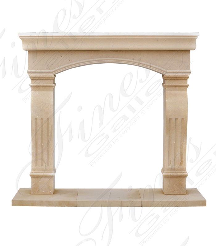 A very fine Italian Limestone Fireplace Mantel