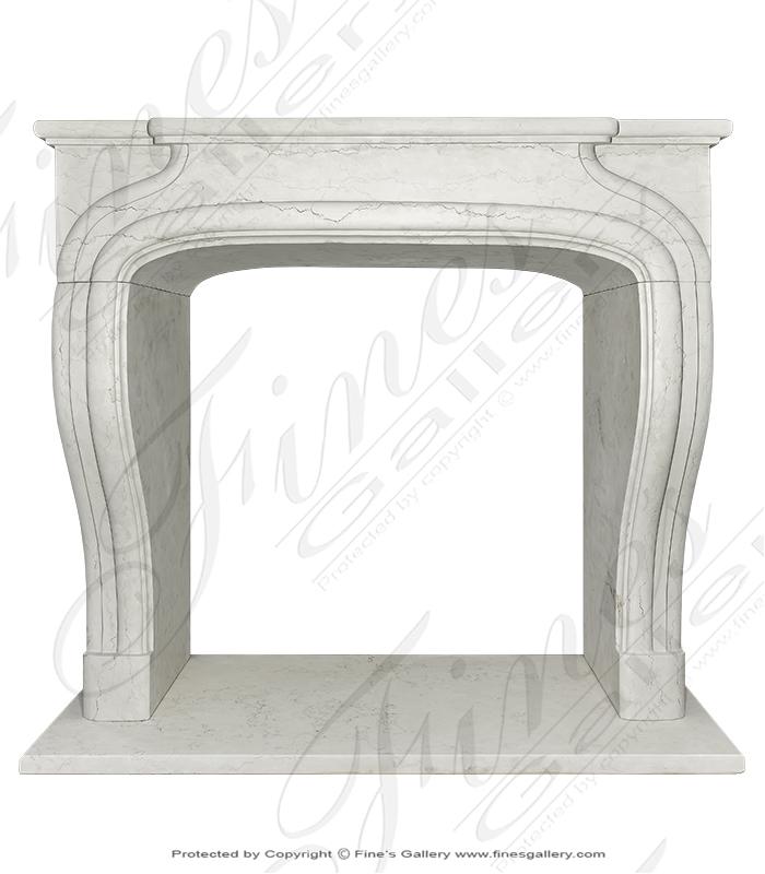 Rustic Perlino Marble Mantel