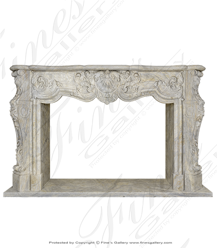 Orobico French Rococo Marble Mantel