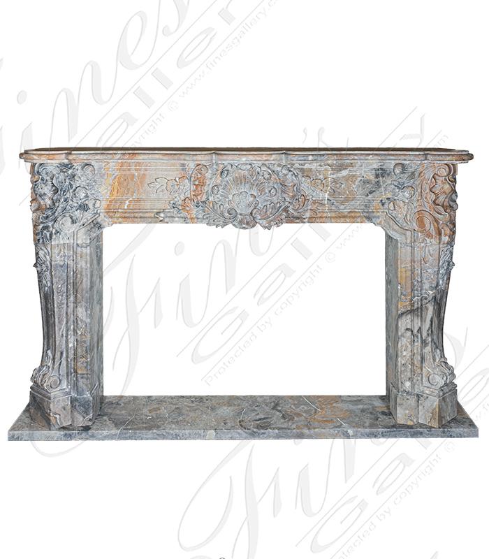 Exquisite Italian Imported Arabascato Orobico Marble Mantel