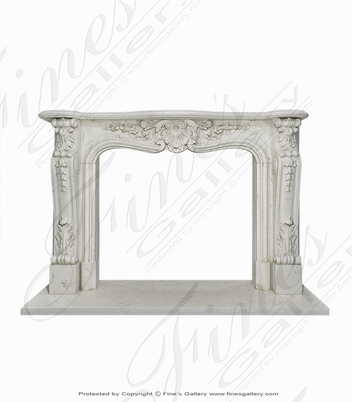 Perlino Light Marble Fireplace