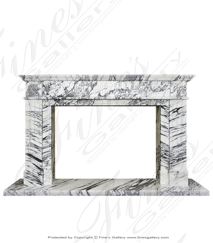 Exotic Calacatta Marble Mantel