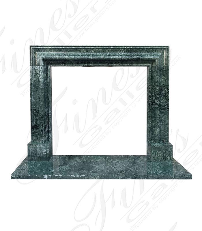 Verde Green Marble Bolection Mantel