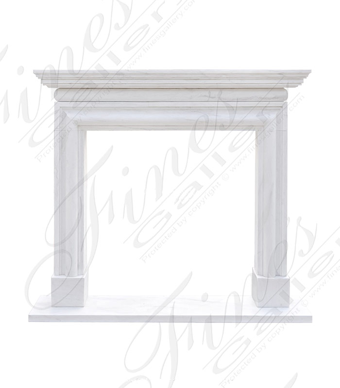 Stunning Light White Marble Bolection Surround with Shelf