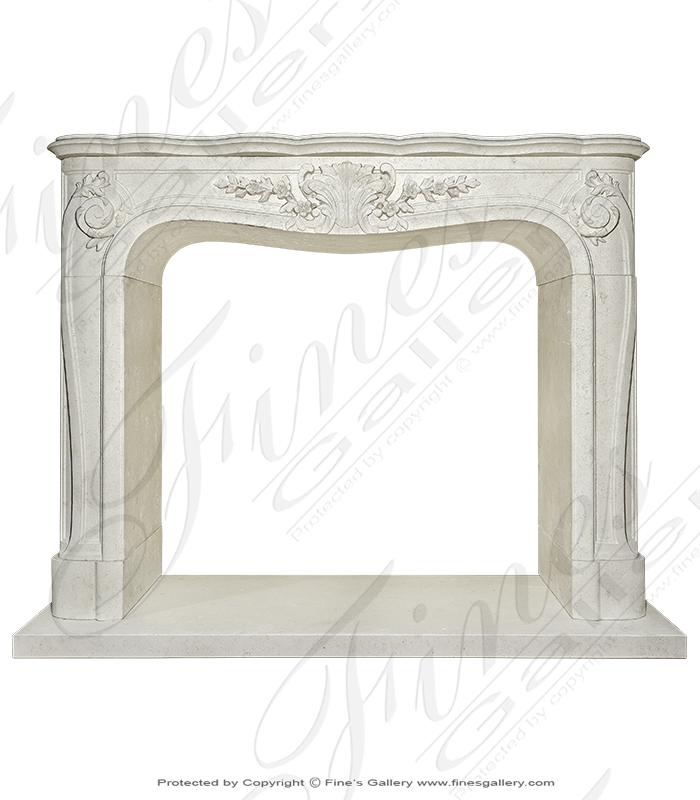 Stunning LOUIS XV French Limestone Mantelpiece