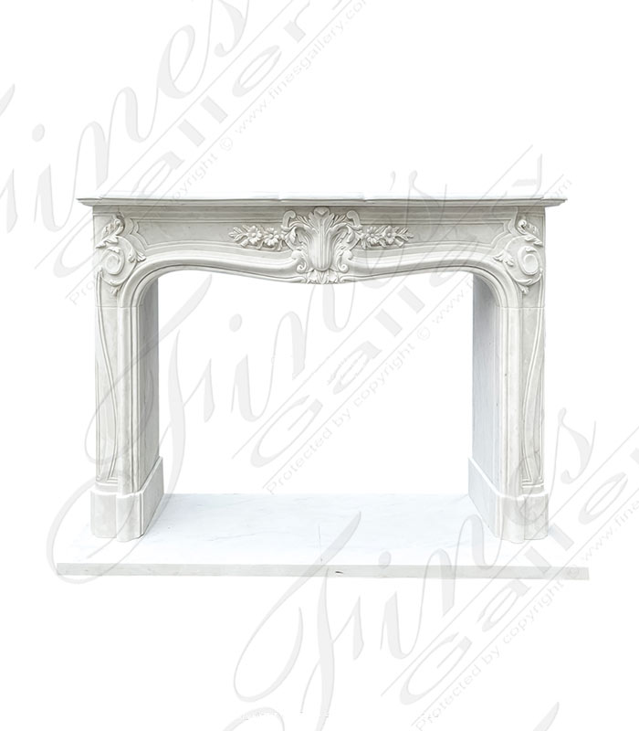 Louis XV French Mantel in Statuary White