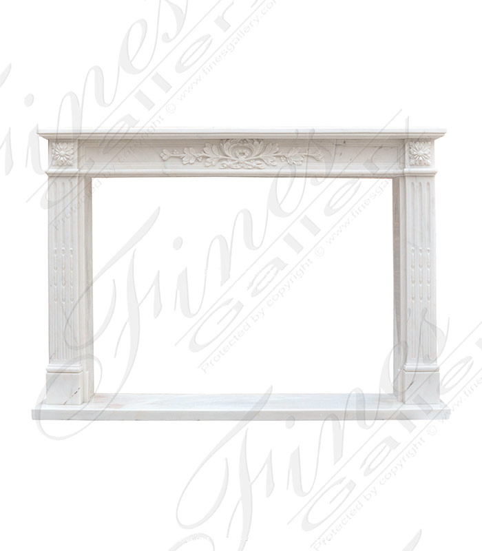 Regal Regency Mantel in light White Marble