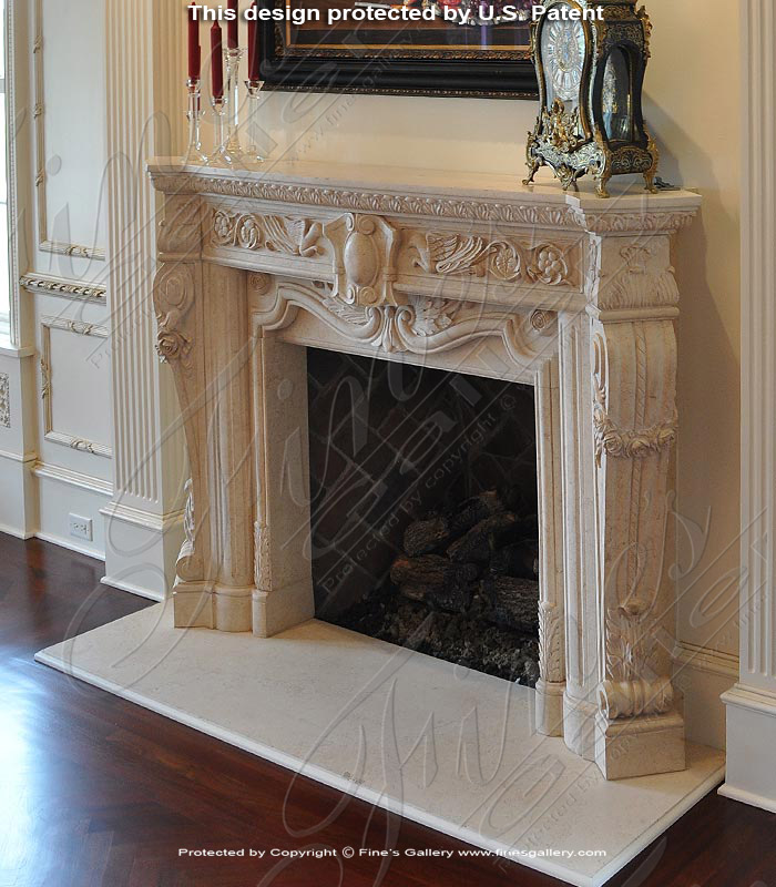 Desert Gold Fireplace Mantel