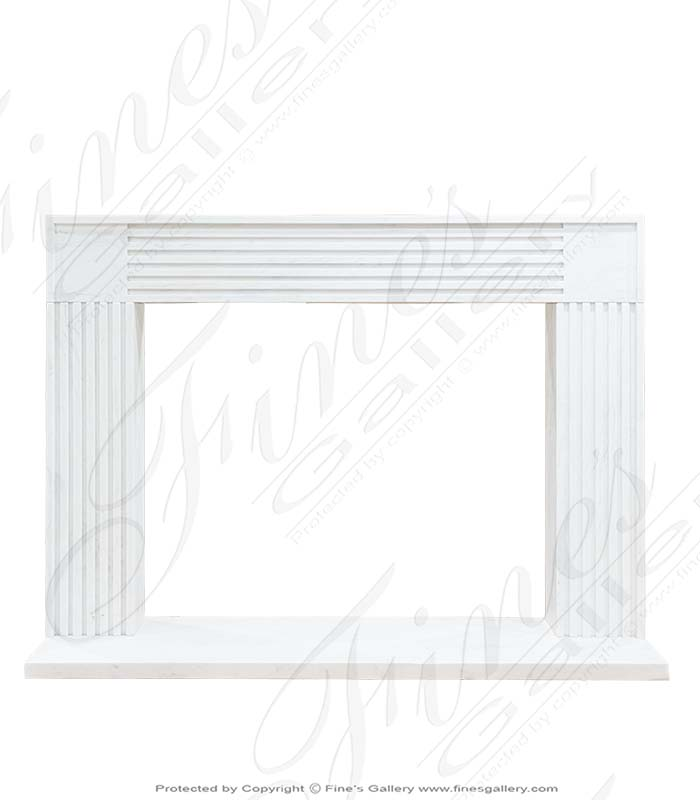 Contemporary Statuary White Marble Fireplace Mantel