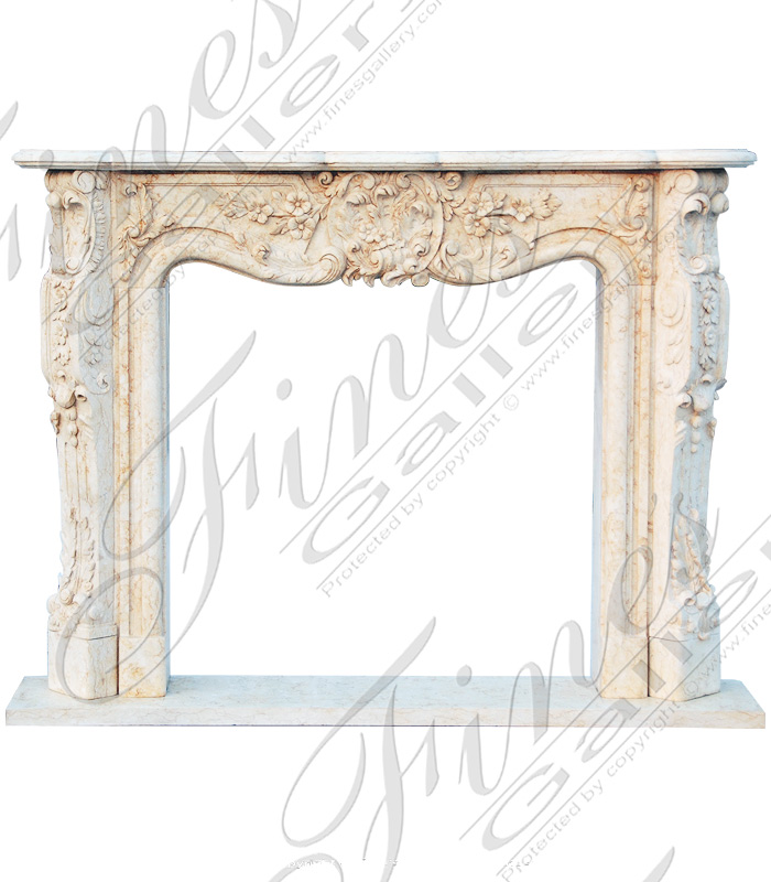 Stone Effect Fireplace Surrounds Part - 46: Cream Rococo French Fireplace Mantel ...