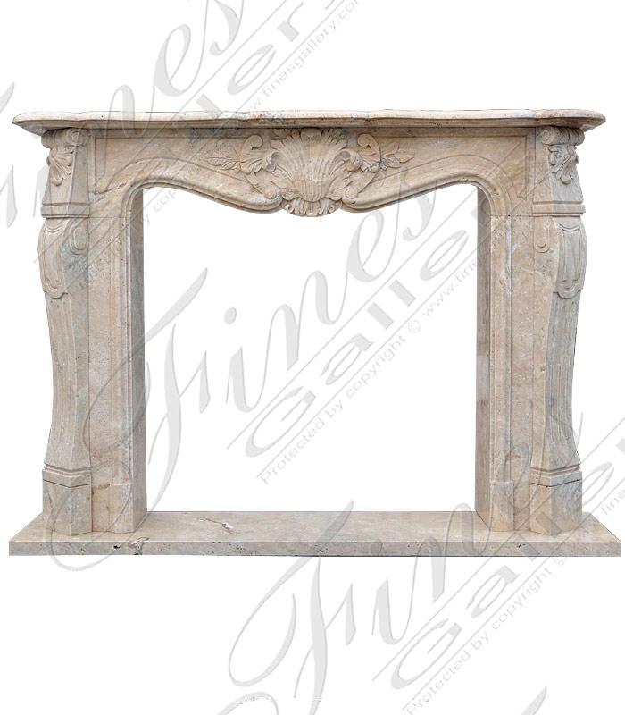 Marble Fireplaces  - Breccia Antique French Marble Fireplace - MFP-1225