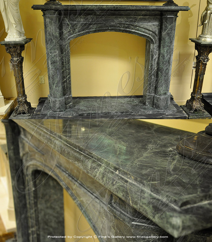 Marble Fireplaces  - Verde Marble Fireplace - MFP-390