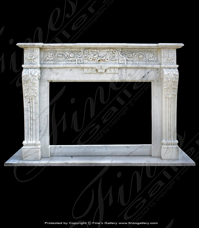 Marble Fireplaces  - Rosso Levanto Marble Mantel - MFP-591