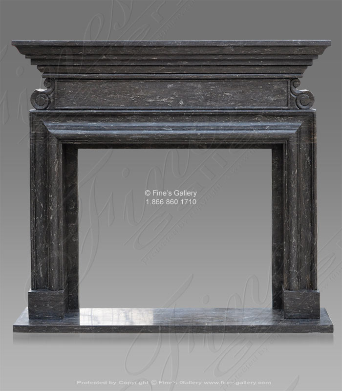 Marble Fireplaces  - Black Marble Fireplace - MFP-524