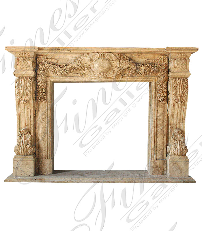 Marble Fireplaces  - Marble Fireplace - MFP-1443
