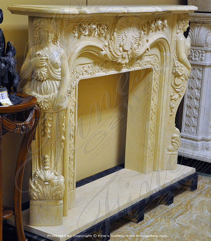 Marble Fireplaces  - European Fine Marble Fireplace - MFP-615