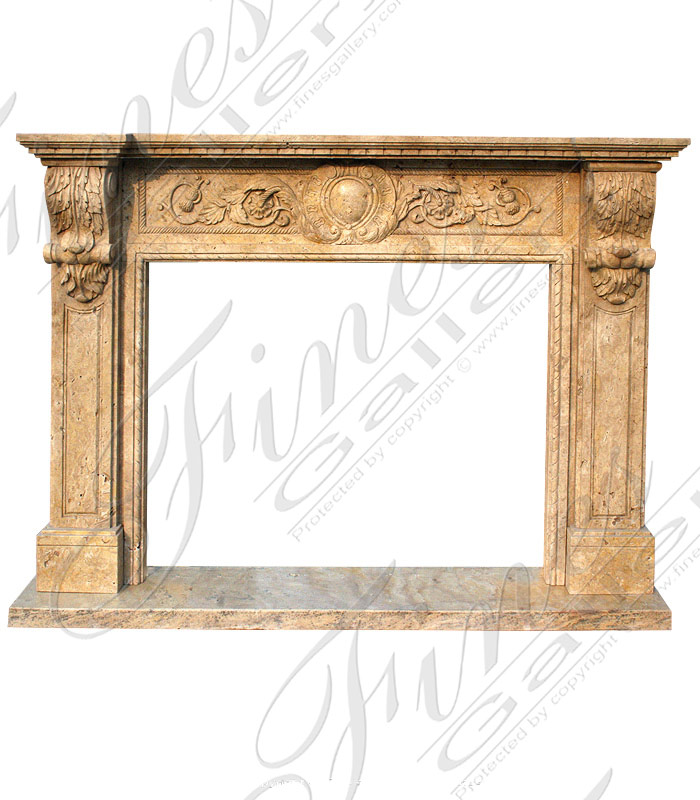 Marble Fireplaces  - The Classic Over Mantel - MFP-1201