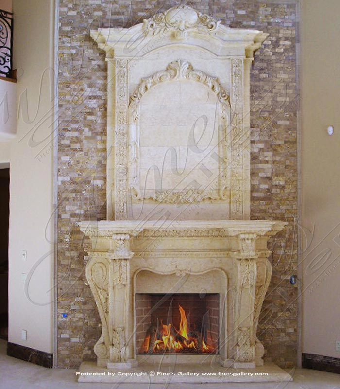 Marble Fireplaces  - Italian Marble Fireplace Mantel - MFP-1394