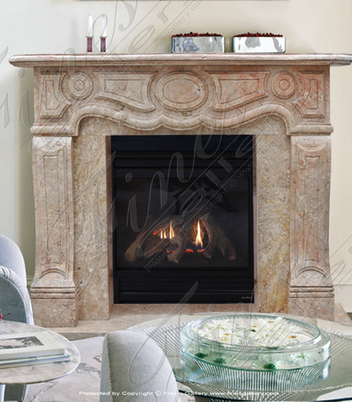 Italian Countryside Marble Fireplace
