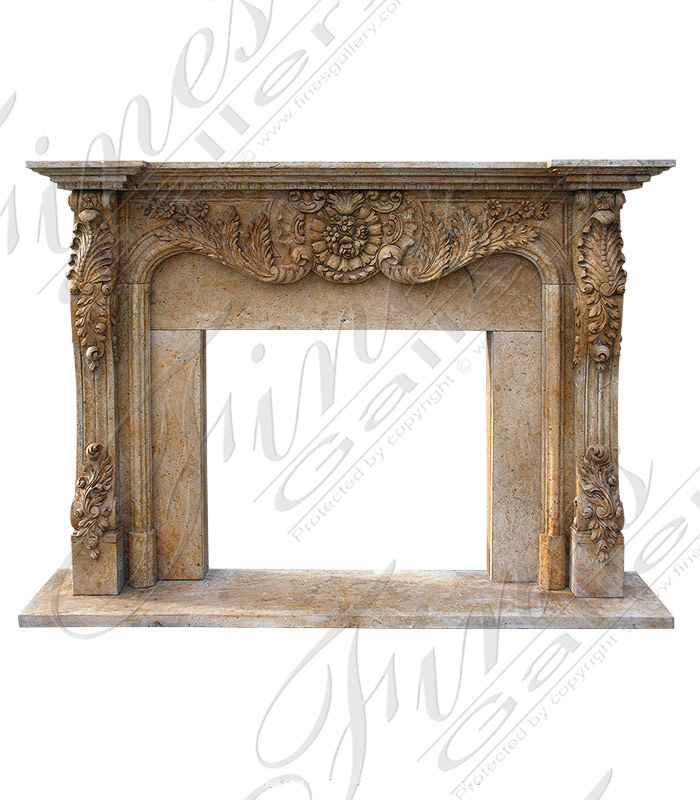 Majestic Gold Marble Fireplace